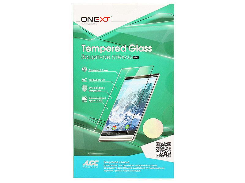 Защитное стекло Onext для телефона Apple iPhone 7 с рамкой белое