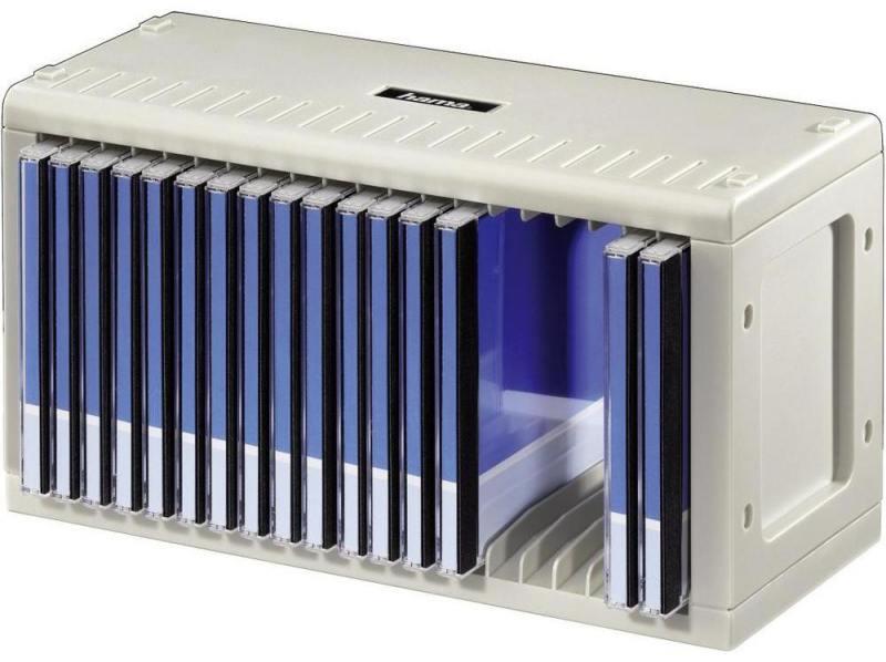 Подставка Hama CD-Rack H-48402 для 20 СD пластик серебристый конверты hama для cd dvd бумажные с прозрачным окошком белый 25шт h 51060
