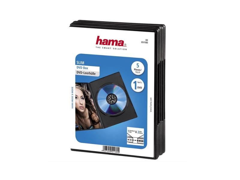 все цены на Коробка HAMA для DVD черный 5шт H-51180