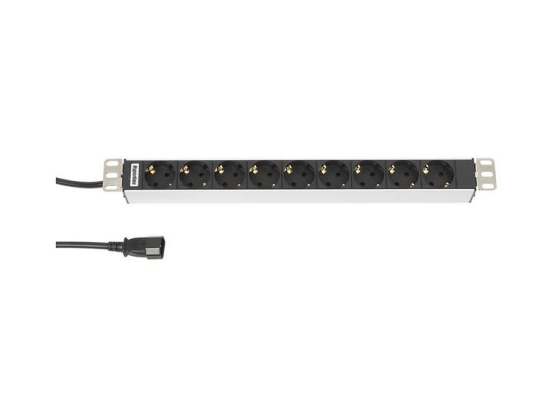 Блок розеток Hyperline SHT19-9SH-2.5IEC для шкафов 19 горизонтальный 9 розеток 10А IEC 320 C14 2,5м блок электрических розеток tlk tlk rs08m1n bk 19