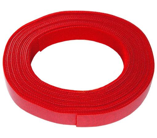 Рулон липучки Hyperline WASR-5x16-RD 5мх16мм красный