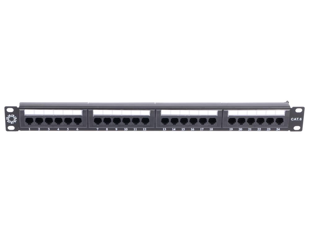 Патч-панель 5bites LY-PP6-07 UTP 6 кат., 24 порта, dual IDC, 1U, 19 патч панель lanmaster twt pp24utp 19 1u 24xrj45 кат 5e utp