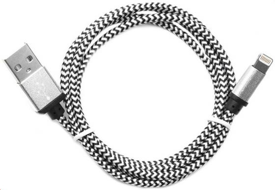 Кабель Gembird USB2.0 AM-Lightning 8P серебристый 1м CC-ApUSB2sr1m кабель usb 2 0 cablexpert am lightning 8p 1м розовый металлик