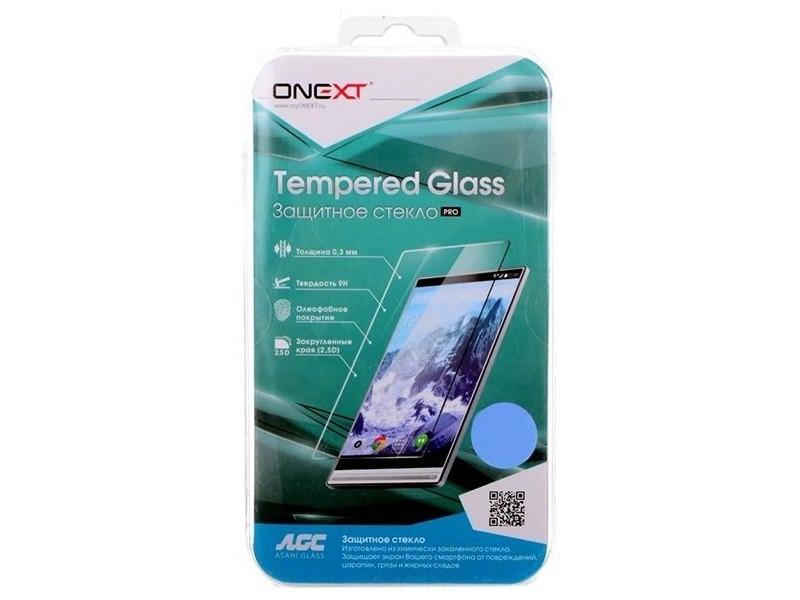 Защитное стекло Onext для телефона Samsung Galaxy A3 2017 с рамкой белое