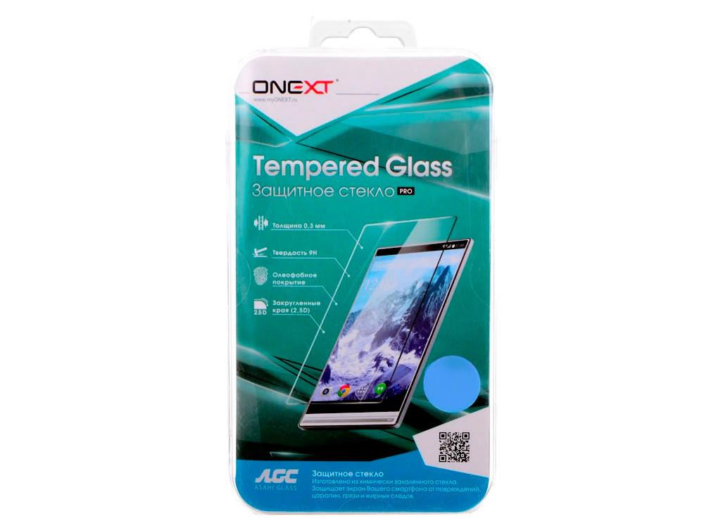Защитное стекло Onext для телефона Samsung Galaxy A7 2017 с рамкой белое