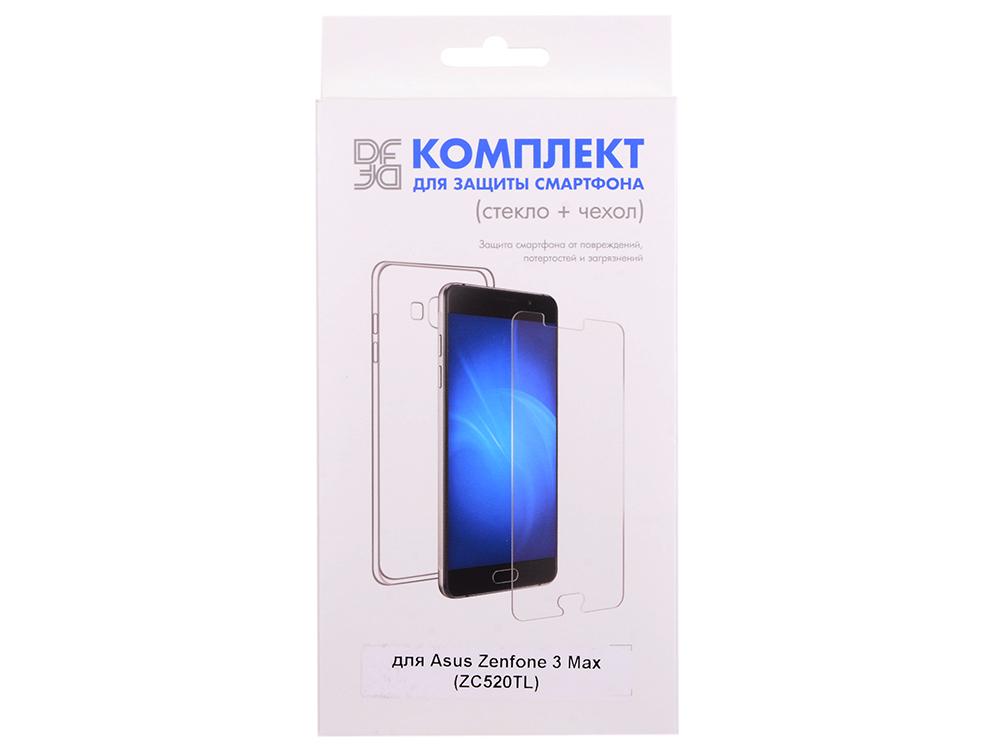 Закаленное стекло + чехол для смартфона Asus Zenfone 3 Max (ZC520TL) DF aKit-03 чехол soft touch для asus zenfone 3 ze552kl df aslim 17