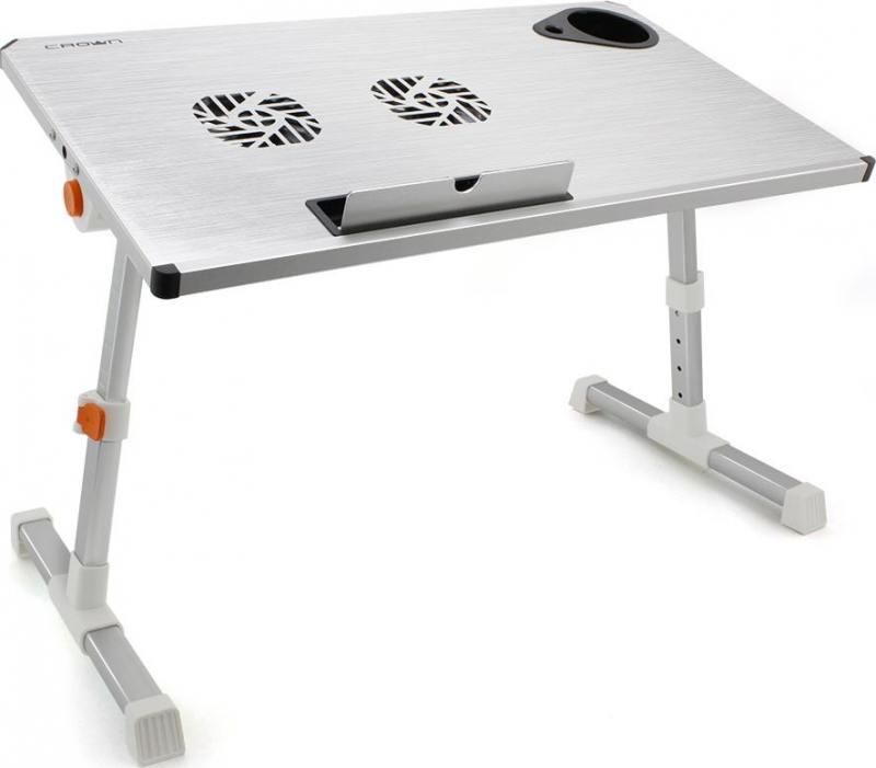 Столик для ноутбука до 17 Crown CMLS-101 алюминий/пластик