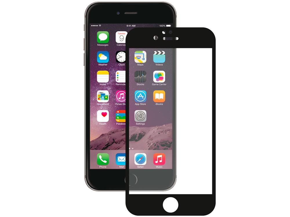 Защитное стекло 3D Deppa 61999 для Apple iPhone 6/6S Plus, 0.3 мм, черное
