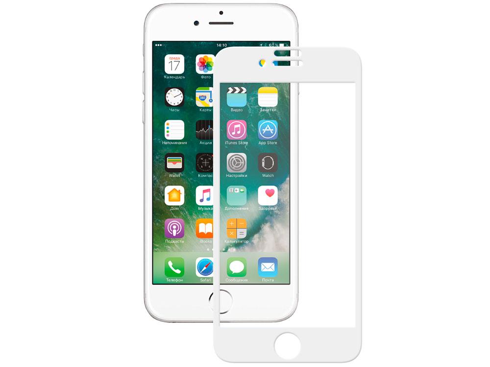 Защитное стекло 3D Deppa 62036 для Apple iPhone 7, 0.3 мм, белое
