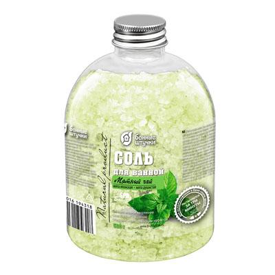 Соль для ванн Банные штучки Мятный чай 32431 500г соль для ванн банные штучки энергия моря 32433 500г