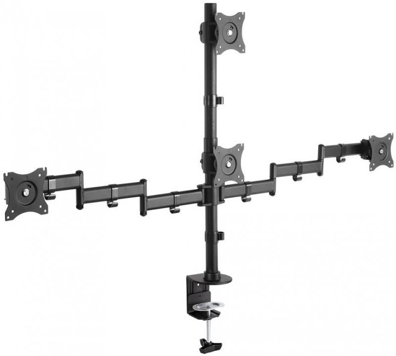 Кронштейн ARM Media LCD-T16 Черный для мониторов 15-32 настольный поворот и наклон max 40 кг arm media lcd t13 15 32 до 8кг vesa до 100x100 черный для двух мониторов