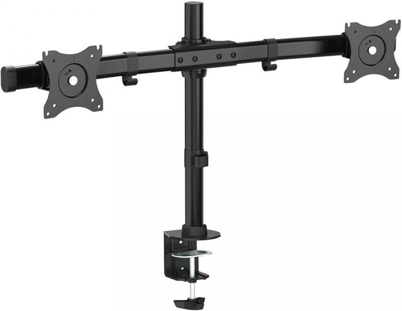 Кронштейн ARM Media LCD-T42 Черный для мониторов 15-32 настольный поворот и наклон max 20 кг arm media lcd t13 15 32 до 8кг vesa до 100x100 черный для двух мониторов