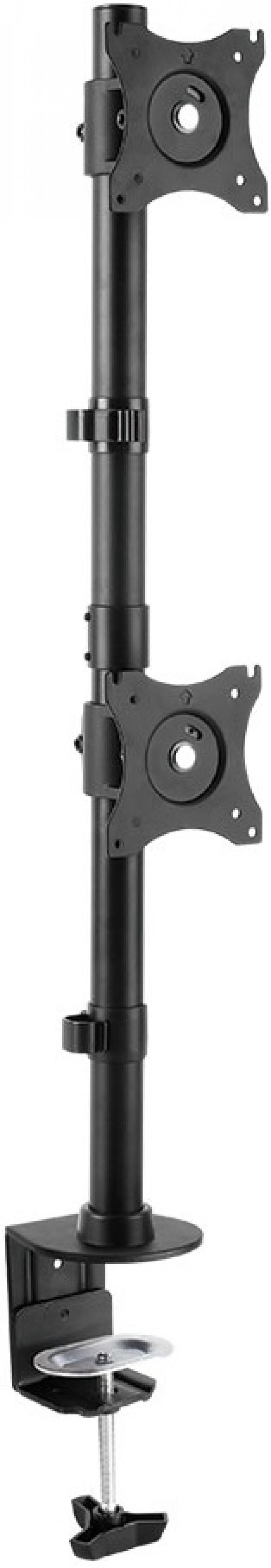 Кронштейн ARM Media LCD-T43 Черный для мониторов 15-32 настольный поворот и наклон max 20 кг arm media lcd t13 15 32 до 8кг vesa до 100x100 черный для двух мониторов