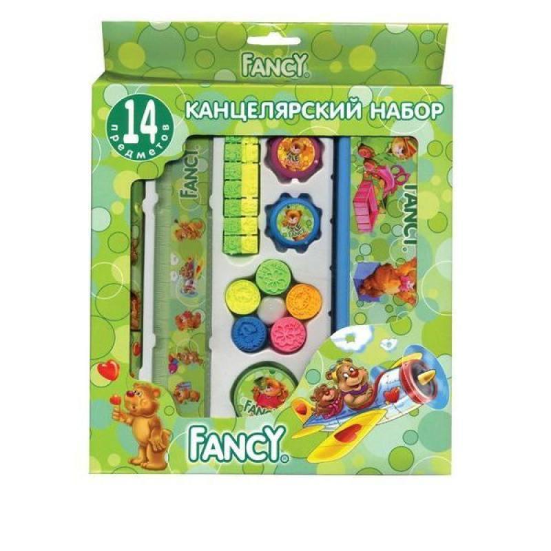 Набор канцелярский FANCY,14 предметов, в карт.упаковке, ассорти 4 цвета FSS102/14/1 staff канцелярский набор омега эконом 15 предметов