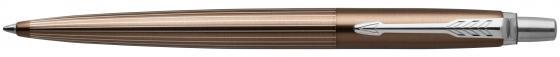 Ручка шариковая Parker Jotter Premium K176 Carlisle Brown Pinstripe CT M чернила синие 1953201 шариковая ручка parker jotter цвет красный 1005109