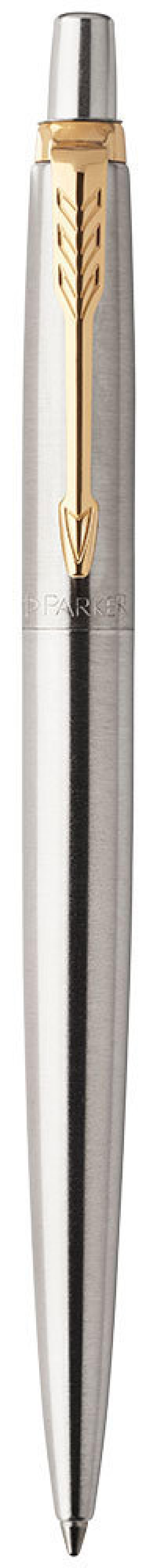 Шариковая ручка автоматическая Parker Jotter Core K63 Stainless Steel GT синий M 1953182 шариковая ручка parker jotter цвет красный 1005109