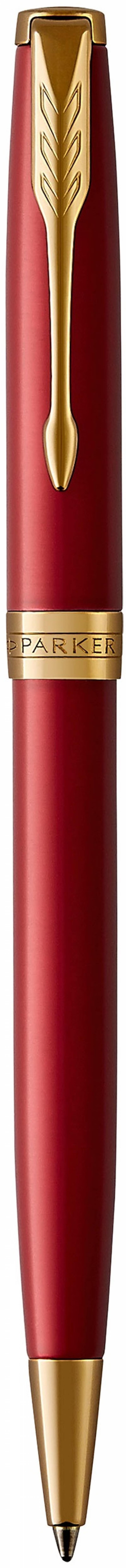 Шариковая ручка поворотная Parker Sonnet Core K539 LaqRed GT черный M 1931476 шариковая ручка поворотная parker sonnet core k527 stainless steel gt черный m 1931507