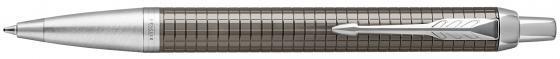 Ручка шариковая Parker IM Premium K322 Dark Espresso CT M чернила синие 1931683 ручка parker im premium dark espresso ciselled ct 1931682