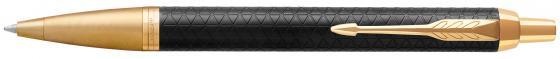 Ручка шариковая Parker IM Premium K323 Black GT M чернила синие 1931667 parker ручка шариковая im black gt цвет черный золотистый