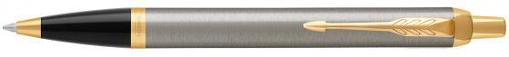 Ручка шариковая Parker IM Core K321 Brushed Metal GT M чернила синие 1931670 ручка роллер parker im metal t223 r0811700 brushed metal gold gt f подар кор