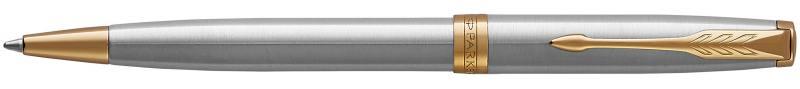 Шариковая ручка поворотная Parker Sonnet Core K527 Stainless Steel GT черный M 1931507