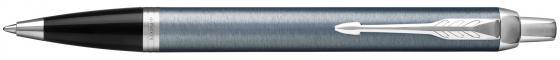 Ручка шариковая Parker IM Core K321 Light Blue Grey CT M чернила синие 1931669 шариковая ручка автоматическая parker im core k321 light blue grey ct синий m 1931669
