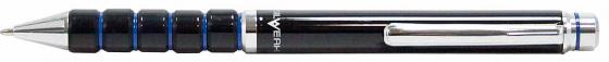 Ручка шариковая Silwerhof Unikum корпус черный/синий чернила синие + коробка 025064 ручка шариковая автоматическая centrum indigo 0 7мм синие чернила