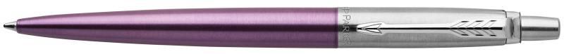 Шариковая ручка автоматическая Parker Jotter Core K63 Victoria Violet CT синий M 1953190 шариковая ручка parker jotter цвет красный 1005109