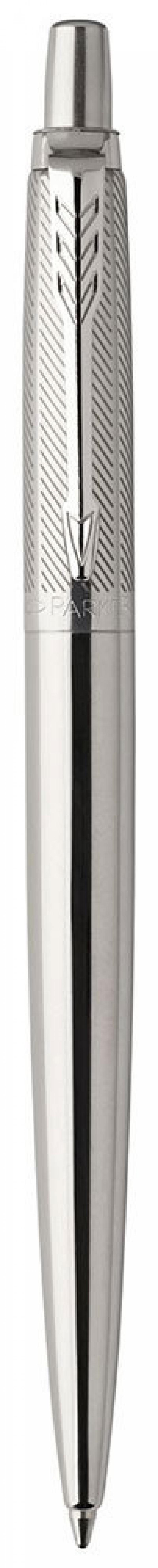 Шариковая ручка автоматическая Parker Jotter Premium K176 Stainless синий M 1953197 шариковая ручка parker jotter цвет красный 1005109