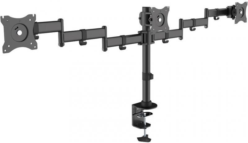 Кронштейн ARM Media LCD-T15 Черный для мониторов 15-32 настольный поворот и наклон max 30 кг arm media lcd t13 15 32 до 8кг vesa до 100x100 черный для двух мониторов