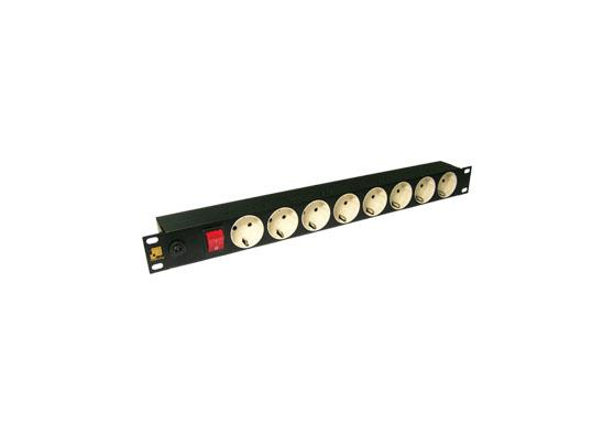 Блок розеток Lanmaster LAN-EP19-8P/S для 19 шкафов 8 розеток с заземлением без шнура блок электрических розеток tlk tlk rs08m1n bk 19