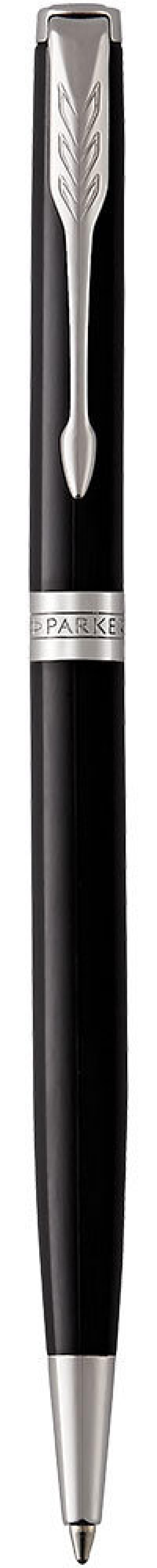 Шариковая ручка поворотная Parker Sonnet Core K430 Slim LaqBlack C черный M 1931503 шариковая ручка поворотная parker sonnet core k527 stainless steel gt черный m 1931507