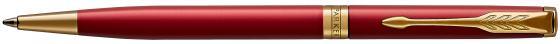 Ручка шариковая Parker Sonnet Core K439 Slim LaqRed GT M чернила черные 1931477 ручка роллер parker sonnet t528 s0817970 matte black gt f черные чернила подар кор
