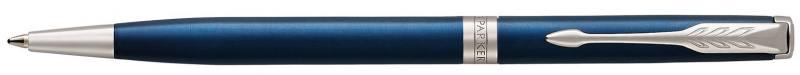 Шариковая ручка поворотная Parker Sonnet Core K439 Slim LaqBlue CT черный M 1945365 шариковая ручка поворотная parker sonnet core k527 stainless steel gt черный m 1931507