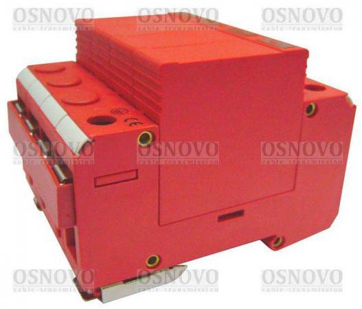 Устройство защиты OSNOVO SP-AC3D/220-1 для 3-х фазных цепей 380в на Din-рейку Максимальный ток разря стабилизатор на din рейку интернет магазин