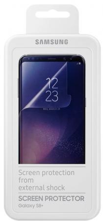 Пленка защитная прозрачная Samsung ET-FG955CTEGRU для Samsung Galaxy S8+ 2шт защитная плёнка для samsung galaxy s8 sm g955 прозрачная samsung et fg955ctegru