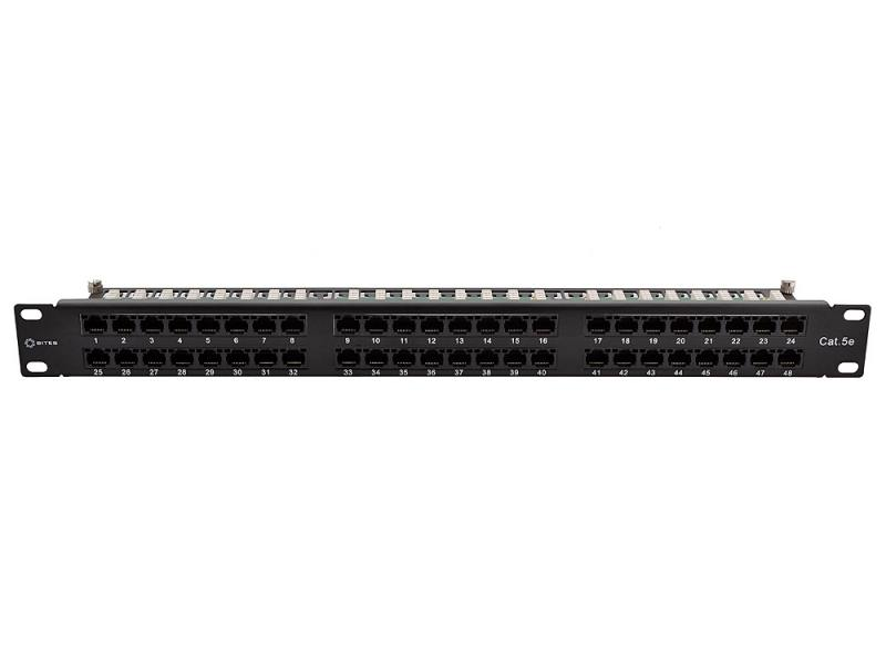 Патч-панель 5bites LY-PP5-75 UTP 5e кат., 48 портов, KRONE & 110, dual IDC, 1U, 19 патч панель lanmaster twt pp24utp 19 1u 24xrj45 кат 5e utp