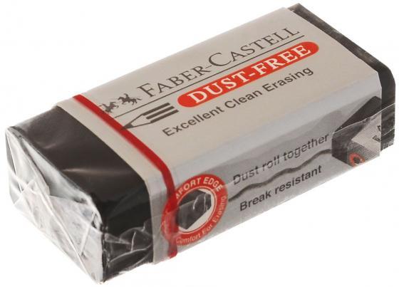 Ластик Faber-Castell Dust Free черный 263424 ластик faber castell dust free 41х18 5х11 5 винил