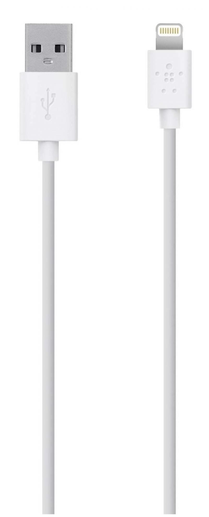 Кабель Belkin F8J023bt3M-WHT Lightning to USB 3.0m белый belkin f8m410cwc02