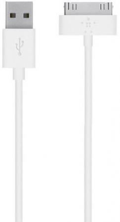 цены Кабель Belkin F8J043bt04-WHT 30-pin to USB 1.2m белый