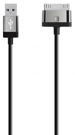 Кабель Belkin F8J041cw2m-BLK 30-pin to USB 2m черный boss bsl 30 blk