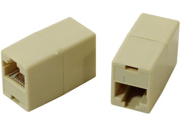 цена Модули RJ-45 - RJ-45 проходной, кат. 5e, VCOM (VTE7713 ), 10шт в пакете онлайн в 2017 году