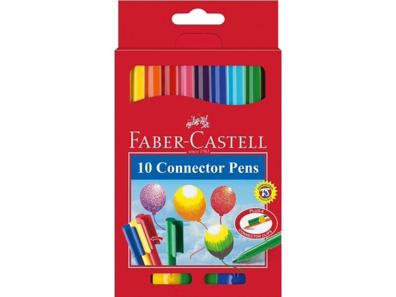 Фломастеры Faber Castell с клипом в картонной коробке 10 шт 155510 faber pareo