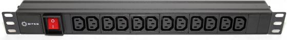 Блок розеток 5bites PDU1219A-09 для 19 шкафов 12 розеток clippasafe защита для розеток clippasafe белый