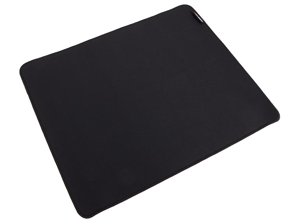 Коврик для мыши  QCYBER BLACK, игровая поверхность,  размер 430x360x4 мм, поверхность: тонкое плетение, основа: натуральный каучук, оверлок.