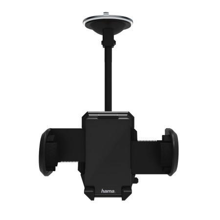 Держатель Hama H-173880 для телефона универсальный шириной от 40 до 110 мм черный держатель hama bike holder для телефона магнитный черный 00178251