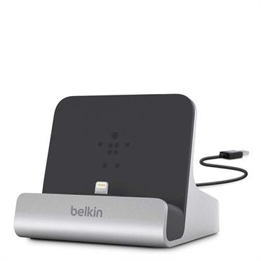Док-станция Belkin F8J088bt для iPad/iPad mini/iPhone 5/iPod touch серебристый