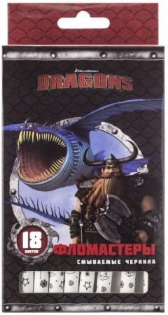 Набор фломастеров Action! DRAGONS, 18 цв., картон с е/п, 2 диз., печать на корпусе набор фломастеров action dragons 24 цв картон с е п 2 диз печать на корпусе