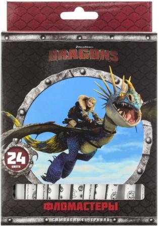 Набор фломастеров Action! DRAGONS, 24 цв., картон с е/п, 2 диз, печать на корпусе набор фломастеров action dragons 24 цв картон с е п 2 диз печать на корпусе