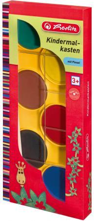 Краски акварельные HERLITZ 6 цветов с кисточкой herlitz магнит для досок smileyworld 6 шт